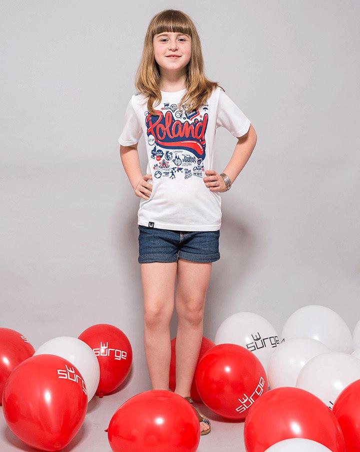 c0e712d16 STYL Koszulka patriotyczna dziecięca Poland (BIAŁA) - SURGE POLONIA