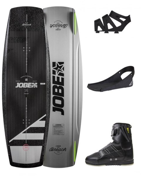 DESKA WAKEBOARD+ buty JOBE- Breach Wakeboard 135 & Drift Bindings Set