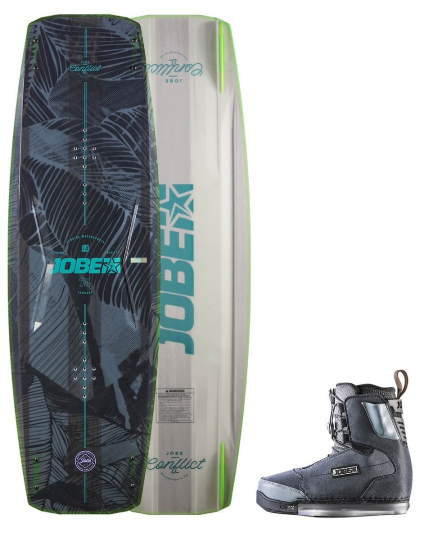 DESKA WAKEBOARD+ buty JOBE- Conflict Wakeboard 142 & Charge Bindings Set