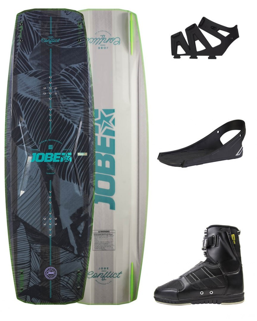 DESKA WAKEBOARD+ buty JOBE- Conflict Wakeboard 145 & Drift Bindings Set