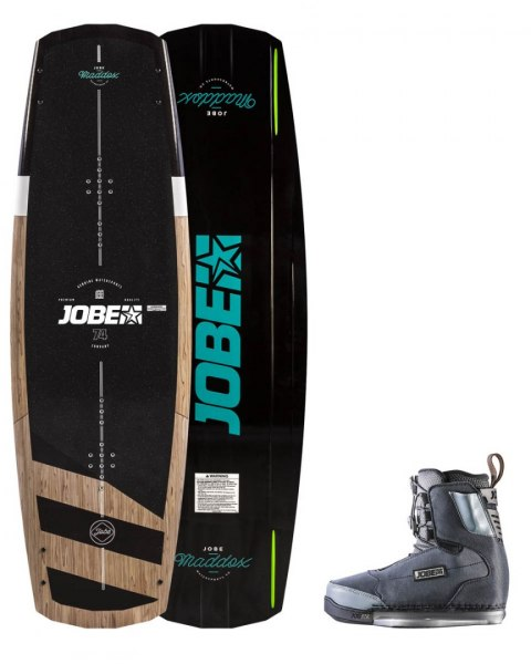 DESKA WAKEBOARD+ buty JOBE- Maddox Wakeboard 138 & Charge Bindings Set