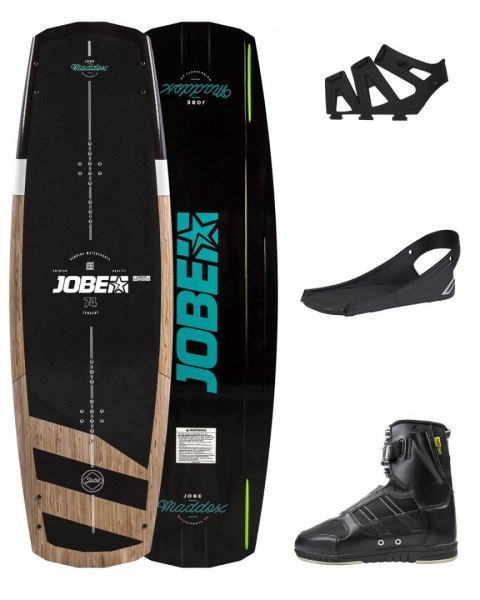 DESKA WAKEBOARD+ buty JOBE- Maddox Wakeboard 142 & Drift Bindings Set