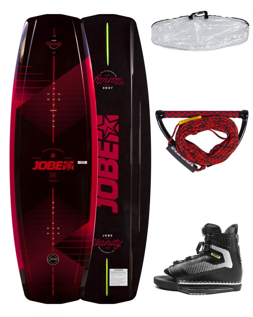 DESKA WAKEBOARD+ buty JOBE- Vanity Wakeboard 136 & Maze Bindings Package