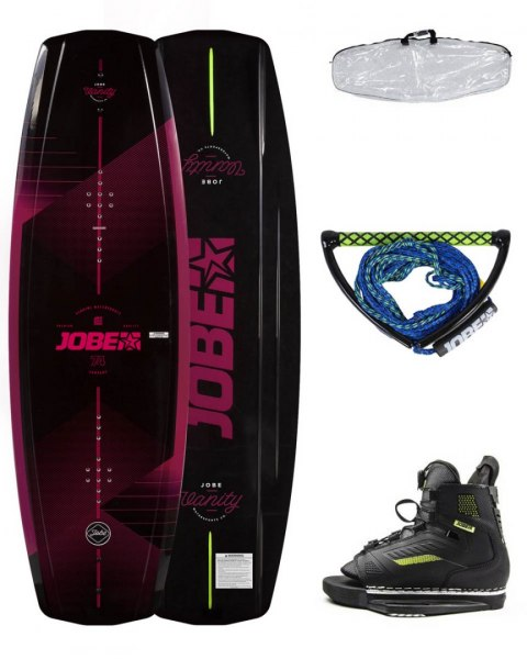 DESKA WAKEBOARD+ buty JOBE- Vanity Wakeboard Women 131 & Unit Bindings Package