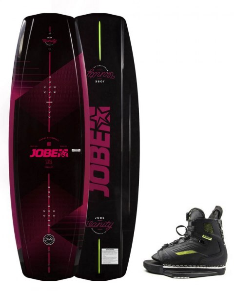 DESKA WAKEBOARD+ buty JOBE- Vanity Wakeboard Women 131 & Unit Bindings Set