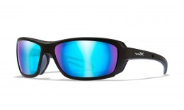 Okulary WAVE Captivate Polarized Blue Mirror, Matte Black Frame