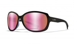 Okulary MYSTIQUE Captivate Polarized Rose Gold Mirror, Gloss Black Frame
