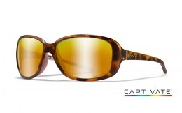 Okulary Wiley X AFFINITY ACAFN04 Captivate Polarized Bronze Mirror, Matte Demi Frame