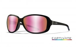 Okulary Wiley X AFFINITY ACAFN10 Captivate Polarized Rose Gold Mirror, Gloss Black Frame