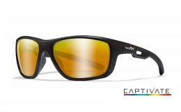 Okulary Wiley X ASPECT ACASP04 Captivate Polarized Bronze Mirror Matte Black Frame
