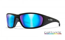 Okulary Wiley X BOSS CCBOS09 Captivate Polarized Blue Mirror, Matte Black Frame