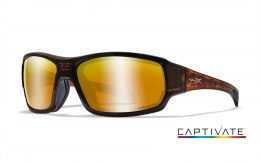 Okulary Wiley X BREACH CCBRH04 Captivate Polarized Bronze Mirror, Copper Matte Hickory Brown Frame