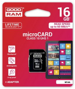 Karta Goodram Micro SDHC 16GB Class 10 + adapter SD