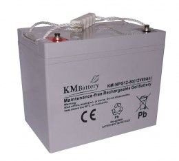 Akumulator Żelowy KM Battery 80Ah 12V NPG80 ŻEL