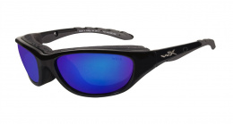 Okulary Wiley X AIRRAGE 698 Polarized Blue Mirror, Gloss Black Frame