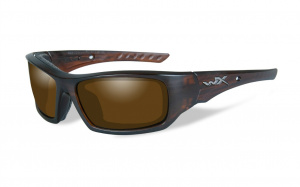 Okulary ARROW Polarized Amber, Matte Layered Tortoise Frame