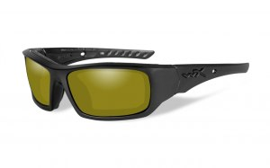 Okulary ARROW Polarized Yellow, Matte Black Frame