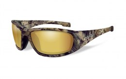 Okulary Wiley X BOSS CCBOS12 Polarized Amber Gold Mirror, Kryptek® Highlander® Frame