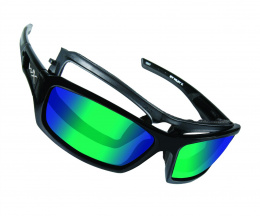 Okulary Wiley X ECHO CCECH04 Polarized Emerald Mirror Gloss, Black Frame