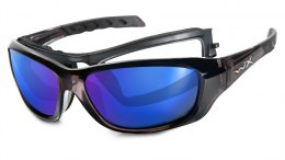 Okulary Wiley X GRAVITY CCGRA04 Polarized Blue Mirror, Black Crystal Frame