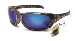 Okulary GRAVITY CCGRA04 Polarized Blue Mirror, Black Crystal Frame
