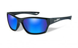 Okulary Wiley X MOXY SSMOX09 Polarized Blue Mirror, Gloss Black Frame