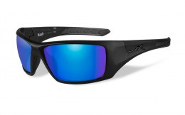 Okulary Wiley X NASH ACNAS09 Polarized Blue Mirror Green Lenses, Matte Black Frame