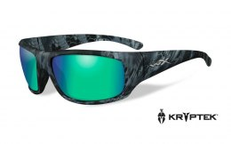 Okulary Wiley X OMEGA ACOME12 Polarized Amber Emerald Mirror, Kryptek® Neptune™ Frame