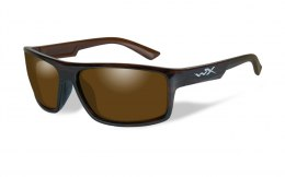 Okulary Wiley X PEAK ACPEA04 Polarized Amber, Gloss Layered Tortoise Frame