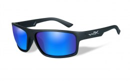 Okulary Wiley X PEAK ACPEA09 Polarized Blue Mirror, Matte Black Frame