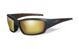 Okulary Wiley X TIDE CCTID04 Polarized Amber Gold Mirror, Matte Hickory Brown Frame