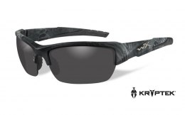 Okulary Wiley X VALOR CHVAL12 Polarized Smoke Grey, Kryptek® Typhon™ Frame