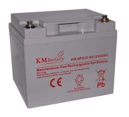 Akumulator Żelowy KM Battery 45Ah 12V NPG45 ŻEL