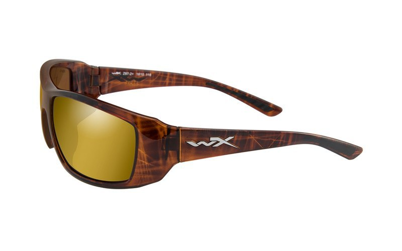 Okulary Wiley X KOBE ACKOB04 Polarized Gold Mirror Amber Lens Gloss Hickory Brown Frame