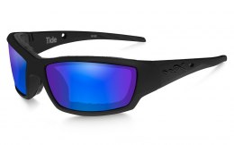 Okulary Wiley X TIDE CCTID09 Polarized Blue Mirror, Gloss Black Frame