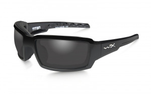 Okulary TITAN CCTTN08 Polarized Smoke Grey Gloss Black Frame
