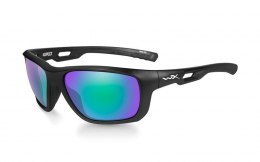 Okulary Wiley X ASPECT ACASP07 Polarized Emerald Mirror Matte Black Frame
